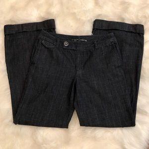 Liz Claiborne Dark Wash Denim Wide Leg Pants